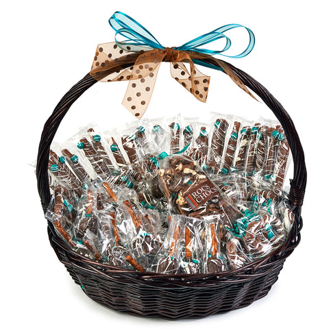 Rocs Chocs Deluxe Chocolate Covered Treats Gift Basket