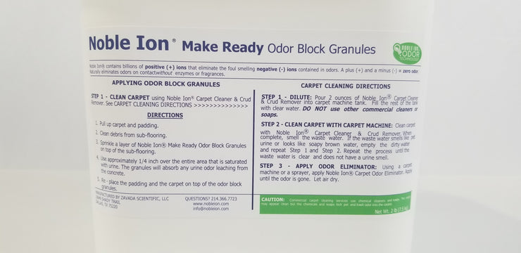 Noble Ion® Make Ready Odor Block Granules - 7 lb - TEST KIT