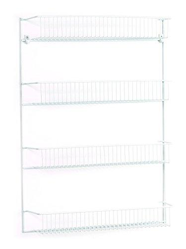 Noble Ion®Product Rack - White - 4-Tier Wall Rack, 18-Inch Wide