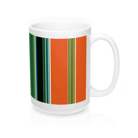 Folk fabric mug orange - I AM POLONIA Polish heritage