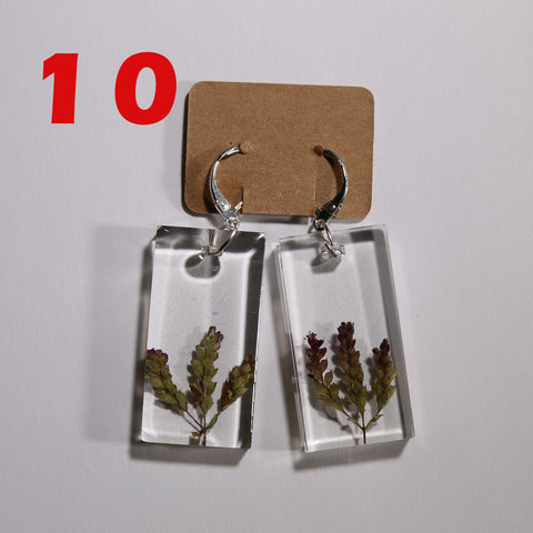 10. Silver earrings with Polish wild plants