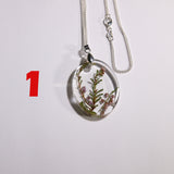 1. Silver necklace with Polish wild plants - I AM POLONIA Polish heritage
