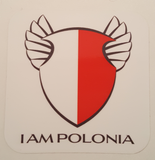 I AM POLONIA Sticker - I AM POLONIA Polish heritage