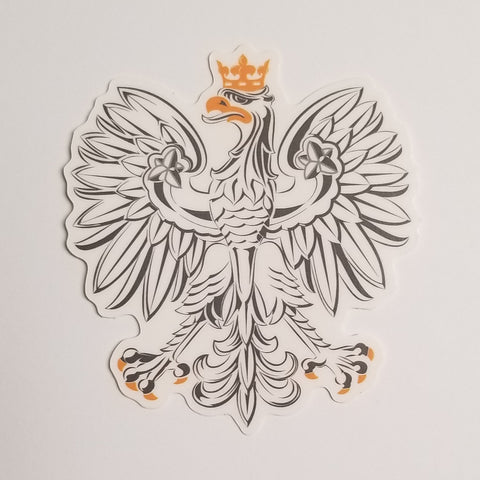 White Eagle sticker - I AM POLONIA Polish heritage