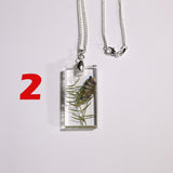 2. Silver necklace with Polish wild plants - I AM POLONIA Polish heritage