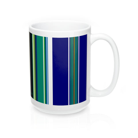 Folk fabric mug blue - I AM POLONIA Polish heritage