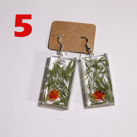 5. Silver Earrings with Polish wild plants - I AM POLONIA Polish heritage