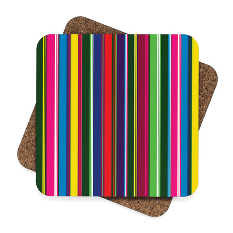Lowicz Colors Square Hardboard Coaster Set - 4pcs - I AM POLONIA Polish heritage