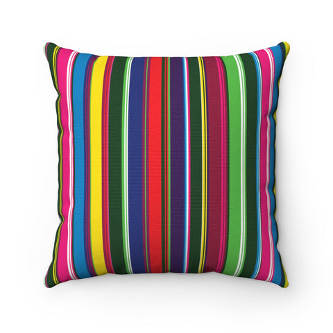 Folk Style Colorful Square Pillow - I AM POLONIA Polish heritage