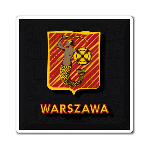 Warszawa Royal City Emblem Magnets