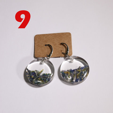 9. Silver earrings with Polish wild plants - I AM POLONIA Polish heritage