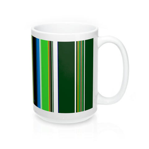 Folk fabric mug green - I AM POLONIA Polish heritage