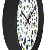 Kaszuby folk wall clock - I AM POLONIA Polish heritage