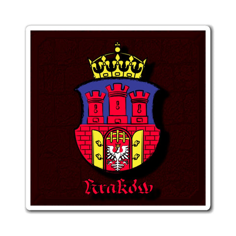 Krakow Royal City Emblem Magnets