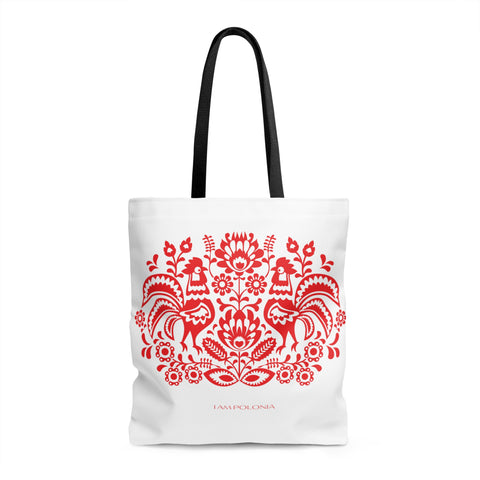 Polish folk theme Tote Bag - I AM POLONIA Polish heritage