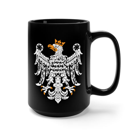 Old Polish Eagle Black Mug 15oz