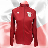 Premium Sport Womens Red Training Jacket - I AM POLONIA Polish heritage