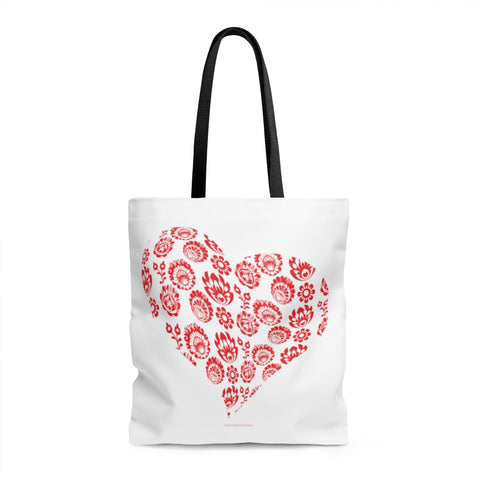 Polish folk Lowicz heart Tote Bag - I AM POLONIA Polish heritage