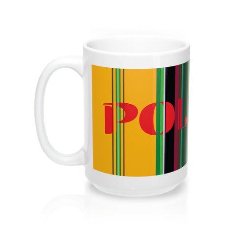 Polish Folk Lowicz Colors Mug - I AM POLONIA