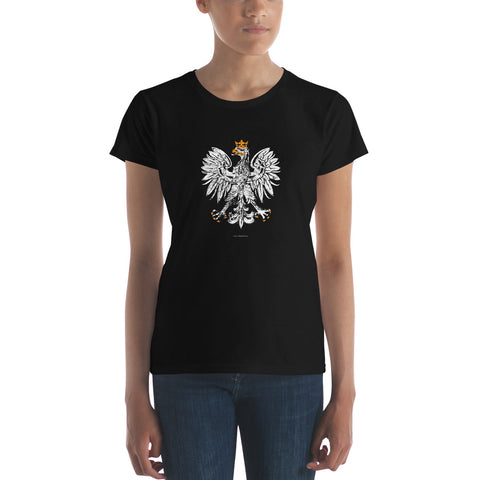 White Eagle Women Tshirt - I AM POLONIA Polish heritage