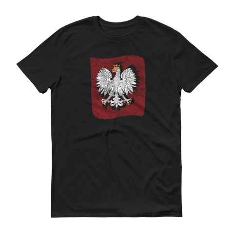 Polish eagle banner tshirt - I AM POLONIA Polish heritage