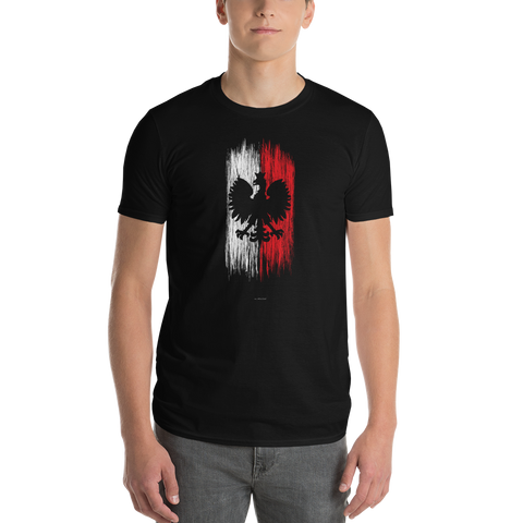Polish eagle on a flag tshirt - I AM POLONIA