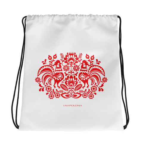 Polish folk drawstring bag - I AM POLONIA Polish heritage