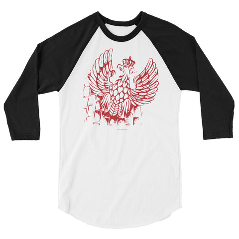 Polish eagle 3/4 sleeve raglan shirt - I AM POLONIA