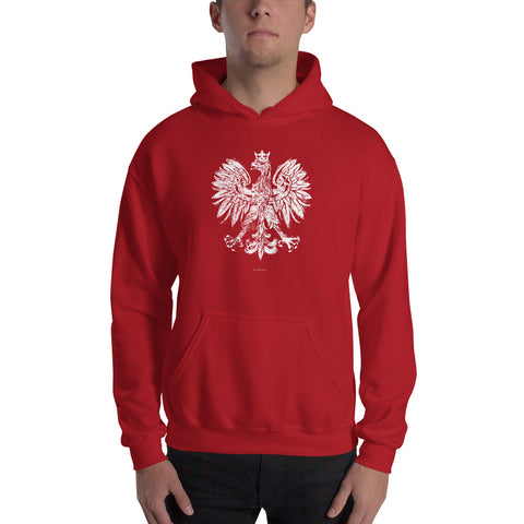 Vintage White Eagle Hooded Sweatshirt