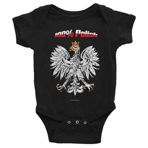 100 % Polish Infant Bodysuit - I AM POLONIA Polish heritage