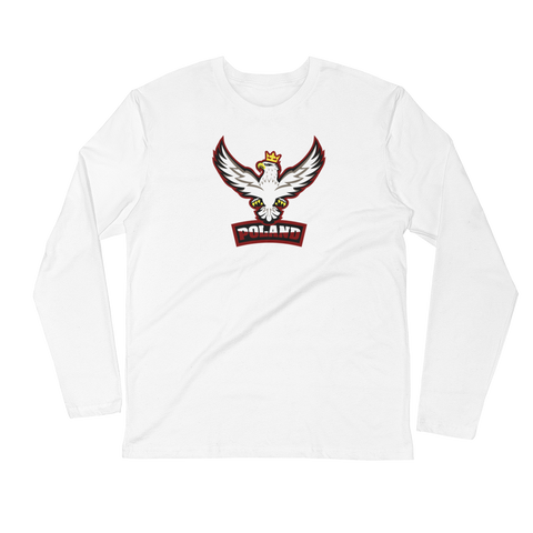 POLISH EAGLE SPORT LOGO Long Sleeve Fitted Crew - I AM POLONIA Polish heritage