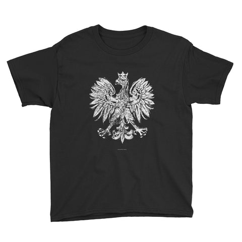 White Eagle Vintage Youth Short Sleeve T-Shirt - I AM POLONIA Polish heritage