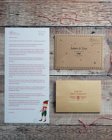Personalized Advent Letters – Third Edition Elf Letters (2019)