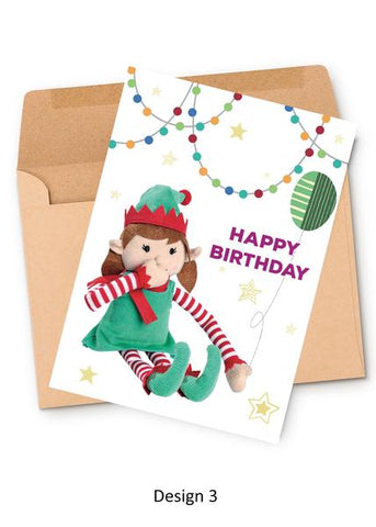 Happy Birthday Elf Personalized Card From Girl