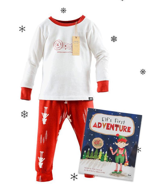 childrens christmas pyjamas elfs first adventure book bundle - Childrens Christmas Pyjamas
