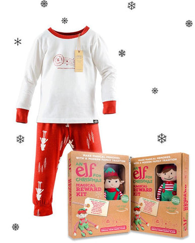 Children's Christmas Pyjamas & Christmas Elf Toy bundle