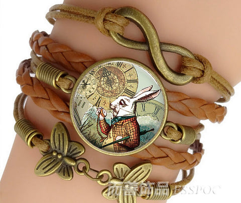 Alice in Wonderland White Rabbit Bracelet