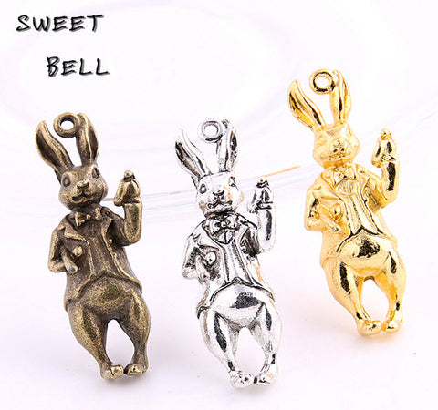 Adorable 3 Bunny Rabbit Charm Set Limited Edition