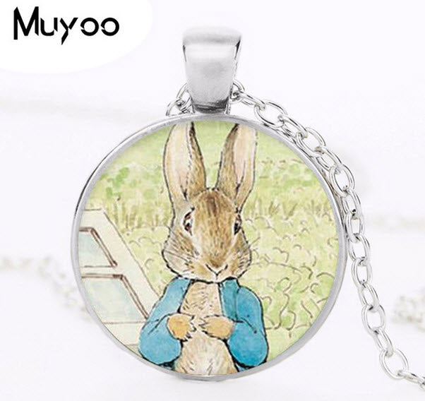 Peter Rabbit Pendant Necklace Vintage Design