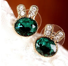Bunny Rabbit Stud Earrings – Semi-Precious Stones