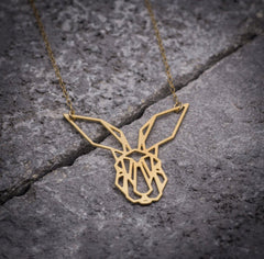 Lovely Origami Bunny Rabbit Necklace