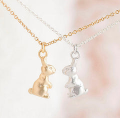 Baby Bunny Rabbit Necklace Charm