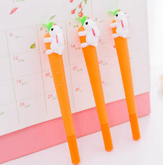 Bunny and Carrot Gel Pen Set 2 Pcs