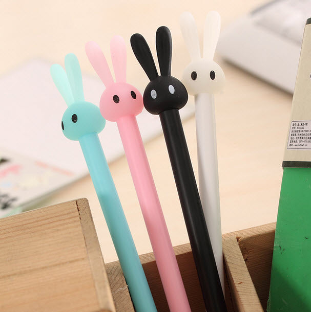 Cute Bunny Rabbit Gel Pen Set 4 Pcs
