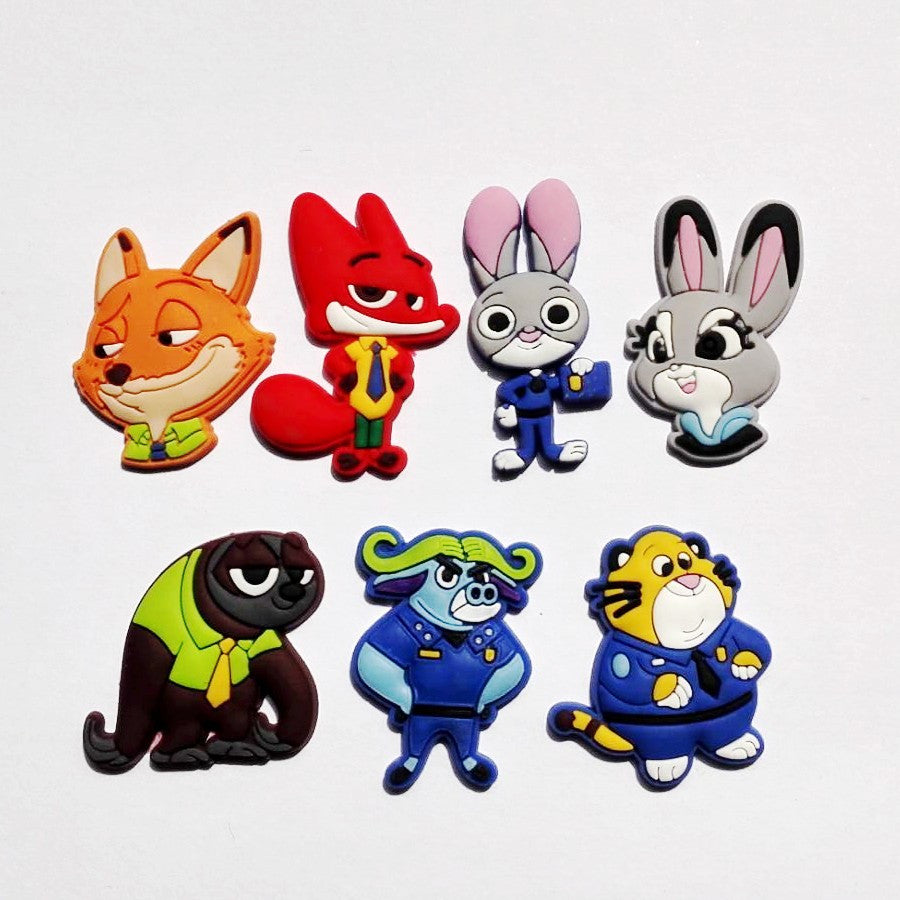 Zootopia Themed Shoe Charm – 7-Piece Set