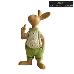 Country-Style Bunny Figurine – 4 Designs