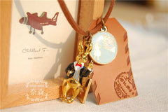 Handmade Leather Alice in Wonderland Rabbit Pendant