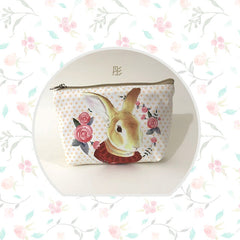 Vintage Style Canvas Rabbit Coin Purse