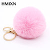 Image of Cute Fluffy Pompom Bunny Keyring