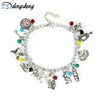 Image of Alice in Wonderland Bunny Rabbit Charm Bracelet